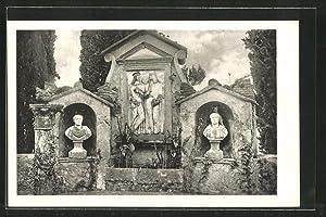 Cartolina San Vigilio, Sculture antiche nel parco