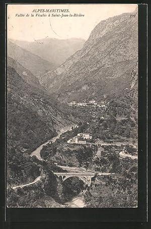 Carte postale St-Jean-La-Rivèrie, Blick in's Tal avec