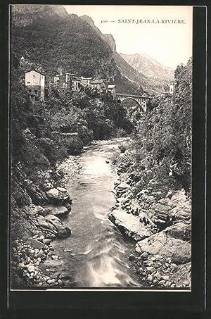 Carte postale St-Jean-La-Rivèrie, Vésubie et Viadukt