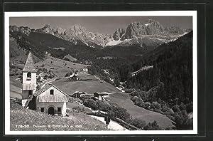 Cartolina San Cipriano, Partie an der Kirche