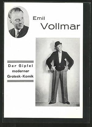 Ansichtskarte Emil Vollmar, Der Gipfel moderner Grotesk-Komik