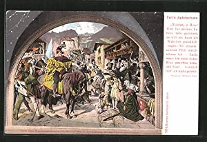 Ansichtskarte Tell's Apfelschuss aus Friedrich Schiller's Wilhelm