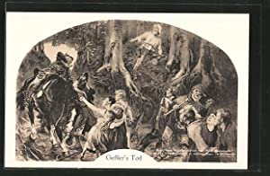 Ansichtskarte Gessler's Tod aus Friedrich Schiller's Wilhelm