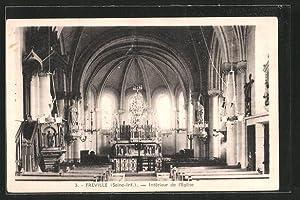 Carte postale Freville, intérieur de l'église