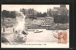 Carte postale Le-Tréport, un coin du port