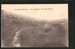 Carte postale Riverie, la montagne vue de