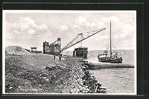 Ansichtskarte Zuiderzeewerken, Het Lossen van een Schip,