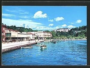 Ansichtskarte Rab, Partie am Meer mit Hotel