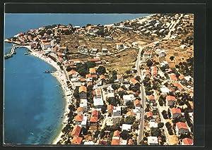 Ansichtskarte Gradac, Luftaufnahme der Stadt
