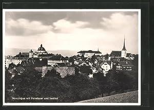 Ansichtskarte Menzingen, Ortsansicht mit Pensionat und Institut