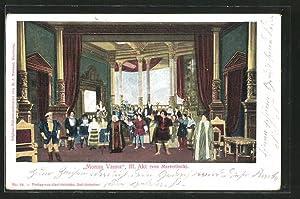 Ansichtskarte Monna Vanna, III. Akt, Theaterszene