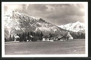 Ansichtskarte Judenstein, Ortsansicht mit Bergpanorama