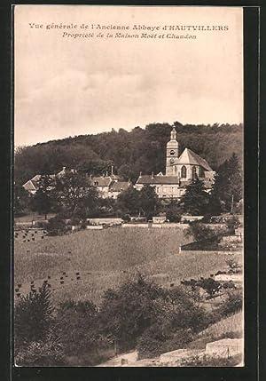 Carte postale Hautvillers, vue générale de l'ancienne