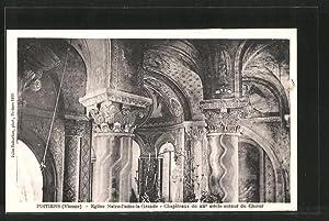 Carte postale Poitiers, église Notre-Dame-la-Grande, chapiteaux du
