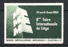 Reklamemarke Liége - Lüttich, 6. Foire Internationale