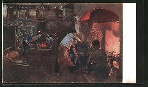 Künstler-Ansichtskarte In der Kupferschmiede