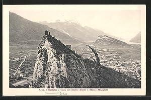 Cartolina Arco, il Castello e vista del