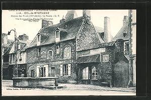 Carte postale Dol-de-Bretagne, maison des plaids, le