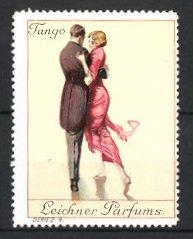 Reklamemarke Berlin, Leichner Parfums, Paar tanzt Tango