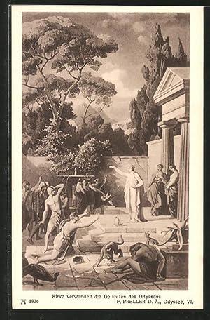 """Ansichtskarte Sage, """"Homer's Odyssee"""", Kirke verwandelt die"""