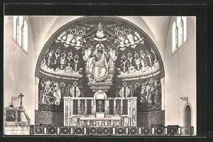Ansichtskarte Zürich-Hottingen, Innenansicht der St. Anton-Kirche