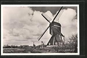 Ansichtskarte Mooi Nederland, Panorama mit Windmühle