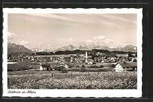 Ansichtskarte Lechbruck, Totalansicht mit Bergpanorama