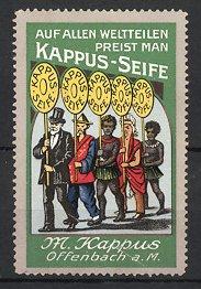 Reklamemarke Offenbach, Kappus-Seife, M. Kappus, Menschen verschiedener