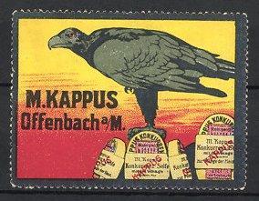 Reklamemarke Offenbach, Seife M. Kappus, Adler, Seifen-Packungen