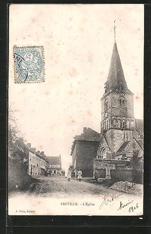 Carte postale Fréville, l'église