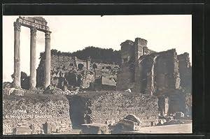 Ansichtskarte Rom, Foro Romano, il tempio dei