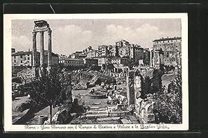 Ansichtskarte Rom, Foro Romano con il Tempio