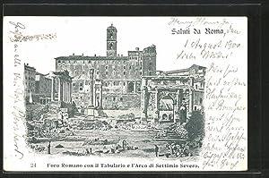 Ansichtskarte Rom, Foro Romano con il Tabulario