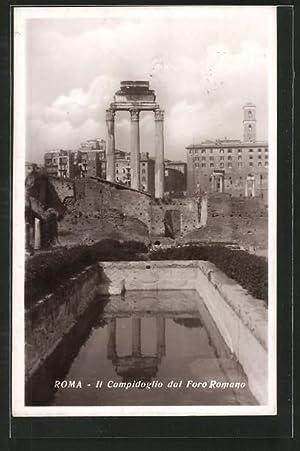 Ansichtskarte Rom, Il Campidoglio dal Foro Romano