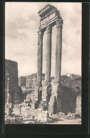 Ansichtskarte Rom, Foro Romano, Il Tempio di