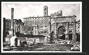 Ansichtskarte Rom, Foro Romano, Triumphbogen des Septimius