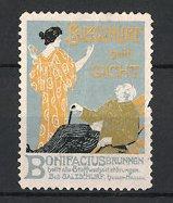 Reklamemarke Bad Salzschlirf, Bonifacius Brunnen, Salzschlirf heil