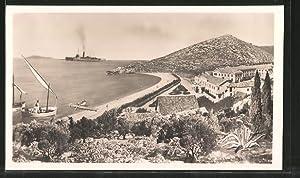 Ansichtskarte Kupari, Ortsansicht, in der Ferne ein