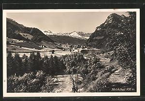 Ansichtskarte Melchthal, Panoramablick auf den Ort und