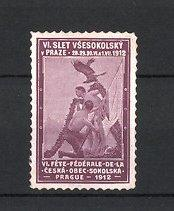 Reklamemarke Prague - Prag, VI. Slet Vsesokolsky