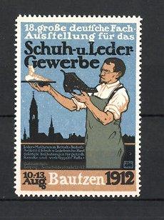 Künstler-Reklamemarke Both, Bautzen, Deutsche Ausstellungn für Schuh,