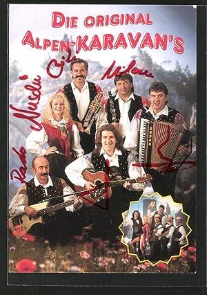 Ansichtskarte die Original Alpen-Karavan's, Musiker mit Gitarre,