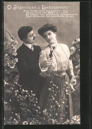 Foto-Ansichtskarte EAS: O Jugendzeit, o Liebestraum!, Dem