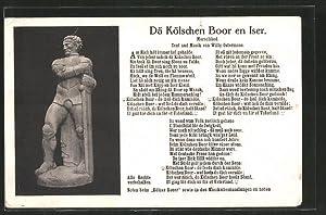 Ansichtskarte Köln, Dä Kölsche Boor en Iser,