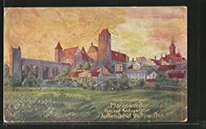 Künstler-Ansichtskarte Marienwerder / Kwidzyn, Dom, Amtsgericht