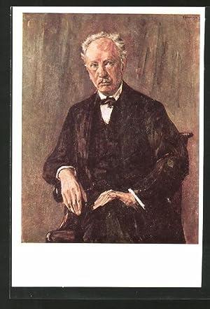 Künstler-Ansichtskarte Max Liebermann: Bildnis Richard Strauss im