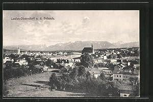Ansichtskarte Laufen-Oberndorf, Ortsansicht mit Blick auf das