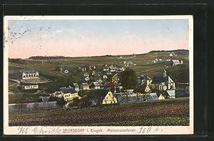 Ansichtskarte Jahnsdorf, Meinersdorferstrasse mit Ortsansicht