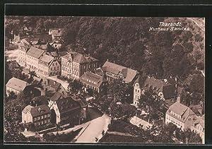 Ansichtskarte Tharandt, Teilansicht mit Kurhaus Sanitas