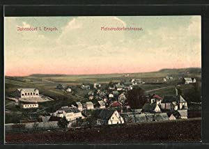 Ansichtskarte Jahnsdorf, Ortsansicht mit Meinersdorferstrasse